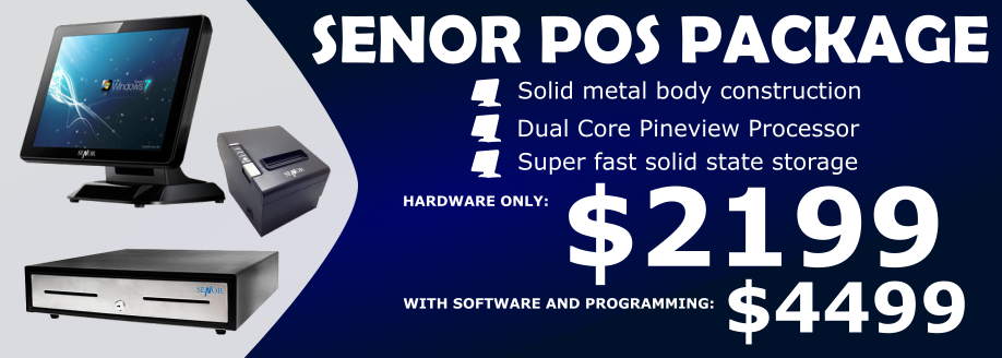 Adelaide POS Hardware, Software and Programming Deal, Terminal, Cash Drawer, Thermal Printer, IdealPOS 7